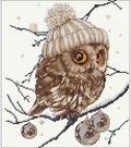 Whoo...Who... It\u0027s Winter On Aida Counted Cross Stitch Kit