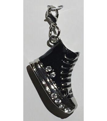 Clip on Shoe-Black & Silver Tennis Shoe