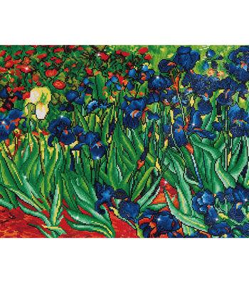 "Diamond Embroidery Facet Art Kit 25.2""X34.5""-Irises (Van Gogh)"