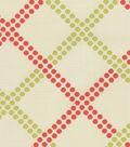 Home Decor 8\u0022x8\u0022 Fabric Swatch-Upholstery Fabric-Waverly Crossway/Watermelon