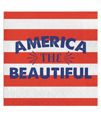 Americana Patriotic 20 Pack Paper Lunch Napkin-America the Beautiful