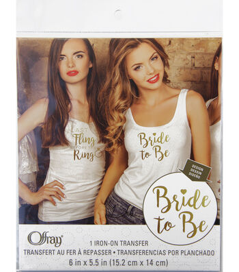 Offray® 6''x5.5'' Iron-On Transfer-Bride to Be