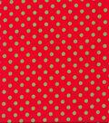 Holiday Showcase™ Christmas Cotton Fabric 43\u0022-Green Dots