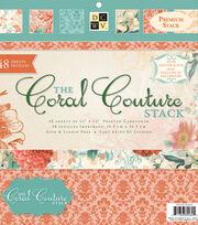 "DCWV 12""x12"" Premium Stack-Printed Coral Couture Stack, , hi-res"