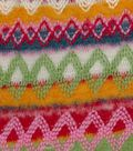 Doodles Collection- Tween Sofia Zigzag Bright Polyester Fabric