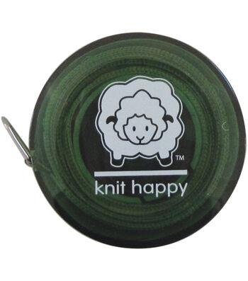 """Knit Happy Tape Measure 60""""-Green"""