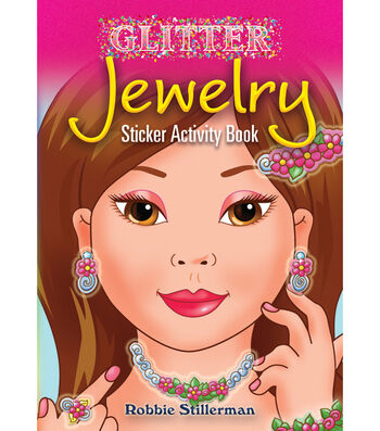 Dover Publications-Glitter Jewelry Sticker Activity Book