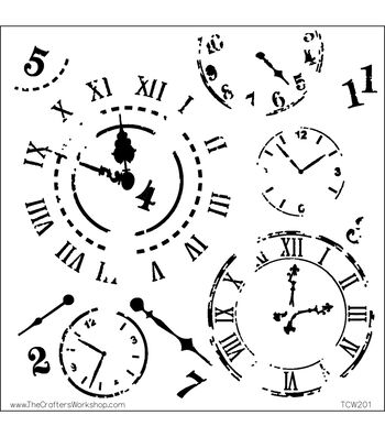 """Crafter's Workshop Templates 12""""X12""""-Time Travel"""
