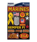 Reminisce Signature Dimensional Stickers Marines