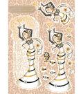 Kanban Yvette Jordan Die-Cut Punch-Out 8X12-Champagne Cream
