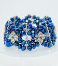 Crystal Diamond Style Bracelet-Cobalt Matte