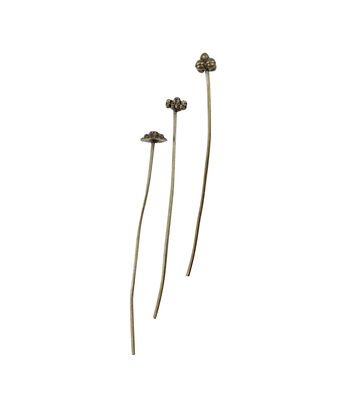 Blue Moon Findings Headpin Metal Multi Pack Deco Oxidized Brass