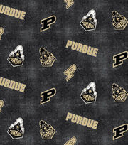"Purdue University Boilmakers Flannel Fabric 42""-Distressed Logo, , hi-res"