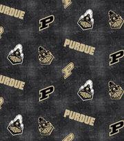 "Purdue University Boilmakers Flannel Fabric 42""-Distressed Logo, , hi-res"
