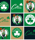 Boston Celtics Fleece Fabric 58\u0022-Block