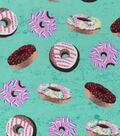 Snuggle Flannel Print Fabric 42\u0022-Tie Dye Donuts