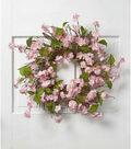 Fresh Picked Spring 22\u0027\u0027 Cherry Blossom & Twig Wreath-Pink
