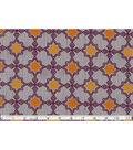 Keepsake Calico Cotton Fabric 43\u0022-Orange Tile On Gray