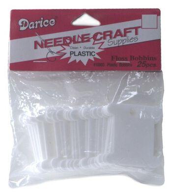 Darice Plastic Floss Caddy Bobbins-25/Pkg