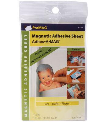"Magnum Magnetics Adhesive Magnetic Sheets (4)-4""x6"""