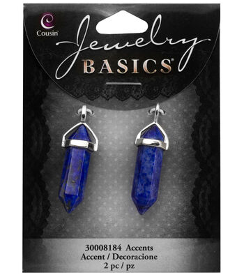 Cousin® Jewelry Basics Pencil with Silver Bail Cap-Mottled Blue