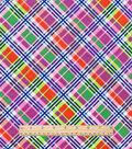 Snuggle Flannel Fabric 42\u0022-Bright Bias Plaid