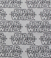 "Star Wars™: The Force Awakens Flannel Fabric 42""-White Logo, , hi-res"