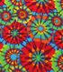 Anti-Pill Fleece Fabric 59\u0022-Classic Explosion Tie Dye