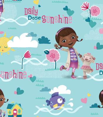 Disney® Doc Mcstuffins Cotton Fabric 43''-Daily Dose of Sunshine