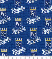 "Kansas City Royals Cotton Fabric 58""-Glitter, , hi-res"