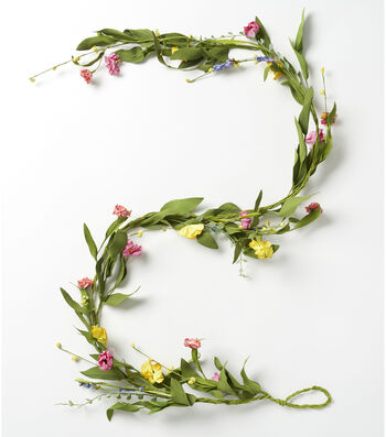 Fresh Picked Spring 66'' Wildflower & Daisy Mixed Flower Garland