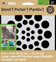 FolkArt® Stencil1™ Laser Stencils - Small - Asian Dots, , hi-res