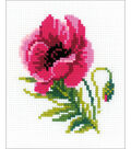 RIOLIS Counted Cross Stitch Kit 5\u0022X6.25\u0022-Pink Poppy