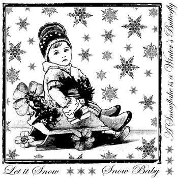 Snow Baby -unmounted Rubber Stp