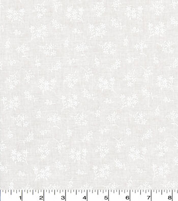Quilter's Showcase™ Fabric 44''-Ditsy Floral on White