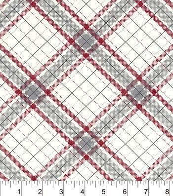 """Snuggle Flannel Fabric 42""""-Riley Plaid"""