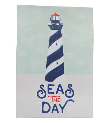 Seaport 12''x18'' Flag-Seas The Day