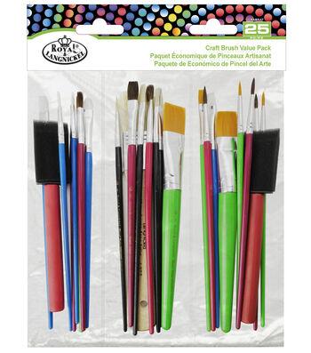 Royal & Langnickel® Craft Brush Value Pack 25pk