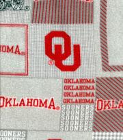 "University of Oklahoma Sooners Fleece Fabric 58""-Gray Block, , hi-res"