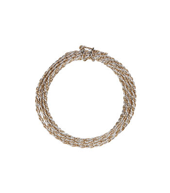 2-Ply Aluminum Wire, Silver/Gold, 18 gauge, 3 yards