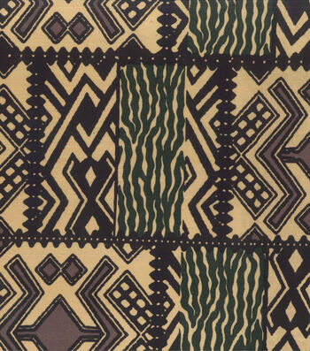 "Novelty Cotton Fabric 45""-Tribal Blocks"
