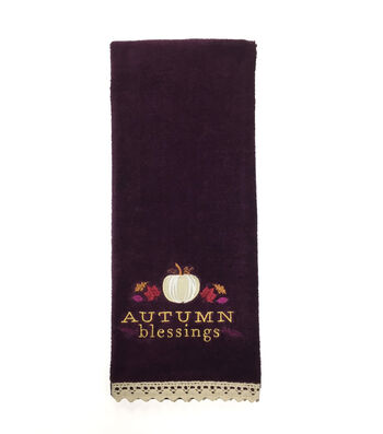 Fall Into Color 16''x28'' Velour & Terry Hand Towel-Autumn Blessings