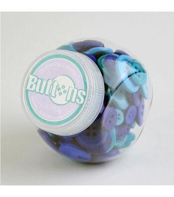 Jar O Buttons-Blue