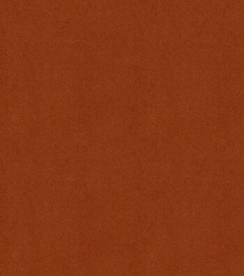"Signature Series Solid Faux Suede Fabric 58""-Rust"