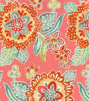 "Waverly Sun N Shade Outdoor Fabric 54""-Tilt and Twirl Peachtini"