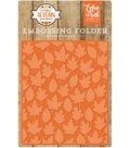Embossing Folder 5\u0022X5.8\u0022-Autumn Leaves