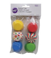 Mini Baking Cups 150/Pkg-Multicolor, , hi-res