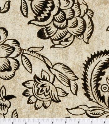 "Home Essentials Print Fabric 45""-Bircham/Onyx"