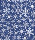 Holiday Showcase™ Christmas Cotton Fabric 43\u0022-Snowflakes Blue