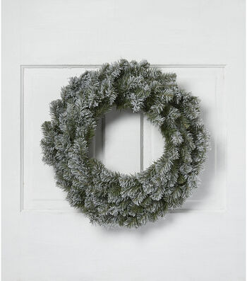Blooming Holiday Christmas 24'' PVC Flocked Canadian Pine Wreath